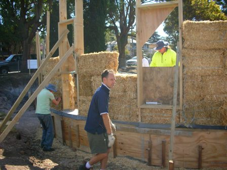 16. Sustainable Building Project - Building the Strawbale Walls - Photo 1.JPG