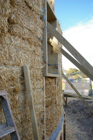 19. Sustainable Building Project - Building the Strawbale Walls - Photo 4.jpg