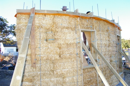 22. Sustainable Building Project - Building the Strawbale Walls - Photo 7.jpg
