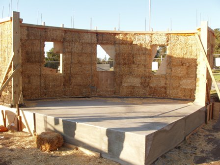 23. Sustainable Building Project - Building the Strawbale Walls - Photo 8.JPG