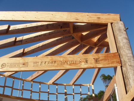 29. Sustainable Building Project - Roof Framing - Photo 1.JPG